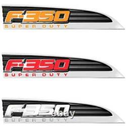 Recon Illuminated F-350 Chrome Fender Emblem Kit For 2011-2016 Ford Super Duty