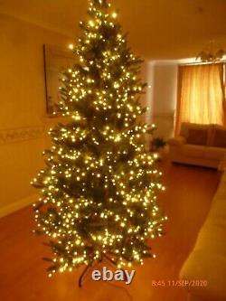 Santa, S Best 7ft Green Spruce Tree 15 Func R/c 1500 Led Colour Change Led Lights