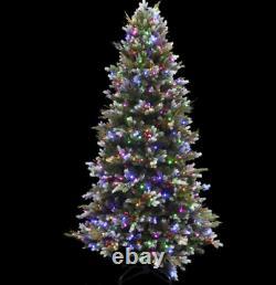 Santas Best 7ft Sugar Snow Flocked Christmas Tree Colour Change LED Lights (36)
