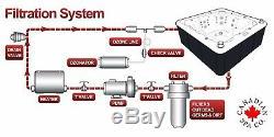 Saskatoon 12 Jet 4 Person Plug & Play Acrylic Spa LEDs, & Ozone