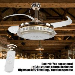 Silent Ceiling Fan LED Light 3-Color Changing Modern Style Lamp Remote Controll