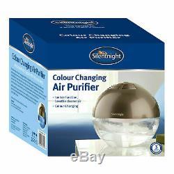 Silentnight Globe Air Ioniser Revitaliser Purifier Freshener Led Colour Changing