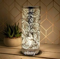 Silver Leaf Design Aroma Touch Lamp Oil Burner Wax Melt LED Light Color Changing