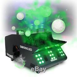 Smoke Bubble Machine Colour Changing LED Lights DMX Fog DJ Disco + Fog Fluid