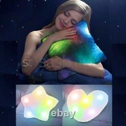 Soft 5 Colour Changing Mood Pillow Led Glow Drk Light Up Cosy Relax Fur Cushion