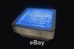 Square Bubble Table with Colour Changing LED Lights Sensory Furniture
