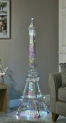 Stunning 146cm Eiffel Tower Floor Lamp 112 colour-changing LED's