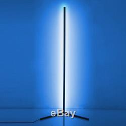 The Rue Minimalist LED Corner Floor Lamp Black Colour Changing