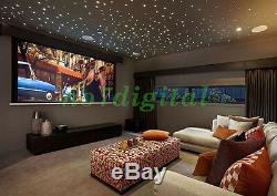 Twinkle stars fiber optic light kit dual output RGB+W led chanderlier night lamp