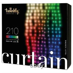 Twinkly 210 RGB LED App Controlled Smart Christmas Lights Curtain Gen II