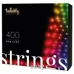 Twinkly 400 RGB LED App Controlled Smart Christmas Lights String Gen II