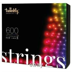Twinkly 600 RGB LED App Controlled Smart Christmas Lights String Gen II