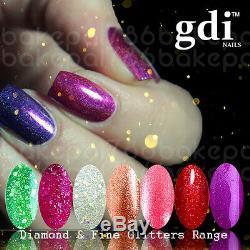 UK Brand, gdi NAILS Fine Glitter & Diamond Glitter UV/LED gel nail polish