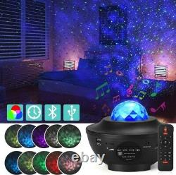 USB Galaxy Star Night Lamp LED Starry Sky Projector Light Ocean Wave + Remote