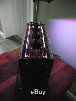 Upcycled table lamp. USB powered LED lights plus Edison E27