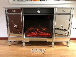 Venetian Sideboard Built In Fireplace And Media Tv Unit Colour Changing LED