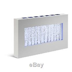 Wall-Mounted LED Bubble Wall Bubble Water Silver Frame Hanging Colour Changing