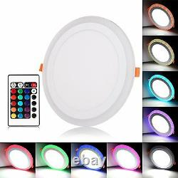 White RGB Dual Color LED Light LED Ceiling Recessed Panel Downlight Spot Lamp