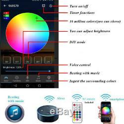 Wifi Black Half Moon 35mm RGB Color Changing 12V LED Deck Rail Step Fence Lights