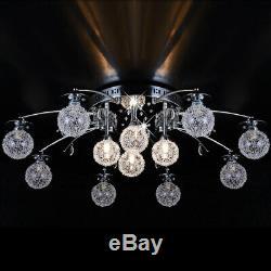 XXL-89cm RGB led ceiling lamp rc controller color change 4 light levels 12 bulbs