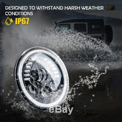 Xprite 7 Prism Series 85W LED Headlights With DRL For 1997-2018 Jeep Wrangler