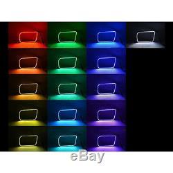 03-06 Chevy Silverado Multi-changement De Couleur Led Rvb Brouillard Halo Anneau M7 Set