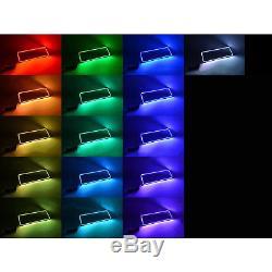 03-06 Ensemble De Bagues Halo Halogènes Lumineuses À Del Rvb Multicolores Chevrolet Silverado
