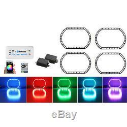 07-13 Ensemble Bluetooth Pour Anneaux De Phares À Del Rvb Multicolores Sierra De Gmc Sierra
