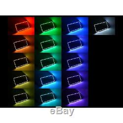 07-13 Ensemble Bluetooth Pour Anneaux De Phares Rgb À Del Changeantes Multicolores Sierra Gmc Sierra