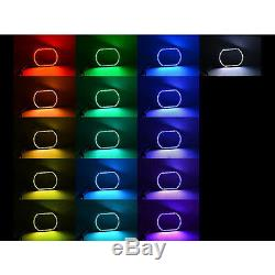 07-14 Chevy Silverado Ensemble D'anneaux Halo Pour Phares Antibrouillard Changeants Multicolores À Del