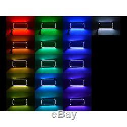 08-10 Ford F-250 Multi-changement De Couleur Led Rvb Phares Halo Anneaux Bluetooth Set