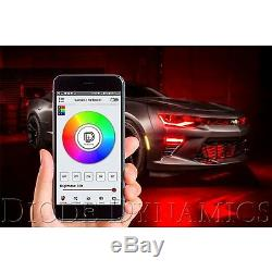 10-13 Chevy Camaro Rs Rgbw Led Multi-couleurs Phares Accent Drl Avec Bluetooth Set