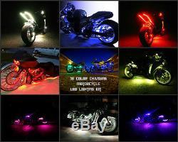 10pc 18 Changement De Couleur Led Honda Shadow Motorcycle Led Strip / Pod Neon Light Kit