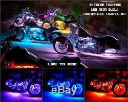 10pc 18 Changement De Couleur Led Night Rod Special Motorcycle Led Strip Kit D'éclairage