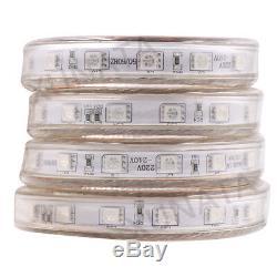 110-220v 5050 Bande Led Rgb + Contrôleur Étanche Flex Corde Couleur Changeante
