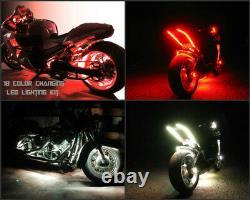 18 Changement De Couleur Led Hayabusa Motorcycle 14pc Motorcycle Led Neon Strip Light Kit