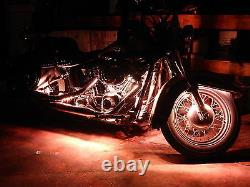 18 Changement De Couleur Led Route Glide Moto 16pc Motorcycle Led Light Strip Kit