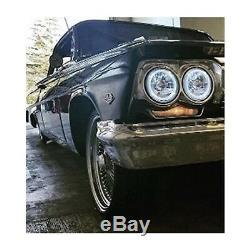 1963 Chevy Impala Assemblage De La Grille Avant Rgb Cob Led Phares Halo À Changement De Couleur