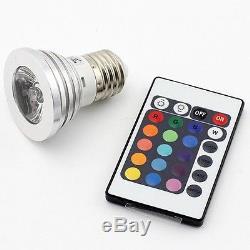 200 E27 3w Rvb Led 16 Ampoule À Couleur Changeante + Télécommande Ir Us Seller