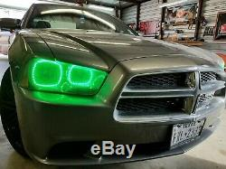 2011 2014 Dodge Charger Changement De Couleur Shift Led Rgb Phare Halo Ring Set