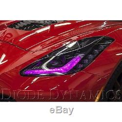 2014-18 Chevy Corvette Rgbw Led Multi-couleurs Changeantes Accent Phares Drl Set