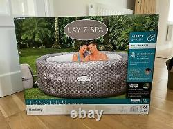 2021 Flambant Neuf Lay Z Spa Honolulu 6 Personne Led Hot Tub Fast Dispatch