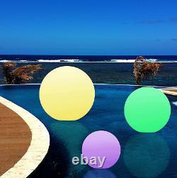 20cm Imperméable Floating Outdoor Mood Ball Light Sphere Garden Lampe Led