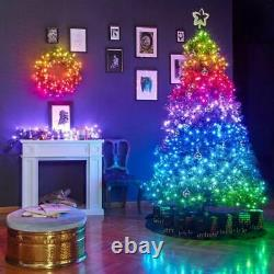 20m Smart App Controlled Twinkly Christmas Fairy Lights Câble Noir