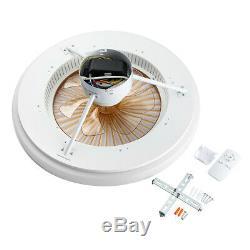 22,6 Pouces Modernes Ventilateurs De Plafond Led Light Chandelier 3 Couleur / Changement De Vitesse À Distance