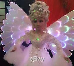 24 Déplacement D'ange Avec La Musique Et Led Changeant De Couleur Lumières Sur Les Enfants Wings De