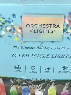 24 Gemmy Orchestra De Lumières Multi-function Color-changing Led Icicle Lights