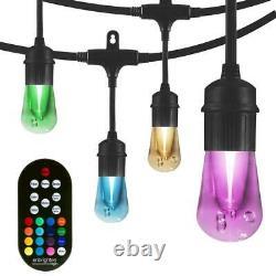 24-bulbe 48 Ft Vintage Seasons Color Changing Cafe Integrated Led String Lights