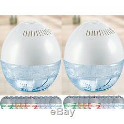 2 X Fresh Air Globe Humidifier & Purifier Ioniser Couleur Changeant Led Light