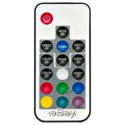 2x Adj Color Changement De Pied D'enceinte Led Avec Éclairage Led Intégré Avec Télécommande